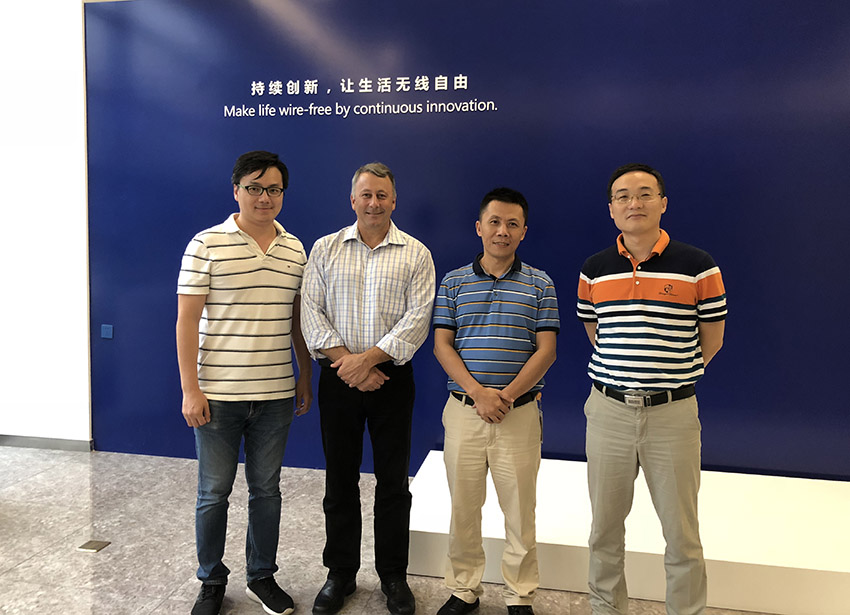 Witricity engineering VP Steve Ganem visited Anjie wireless